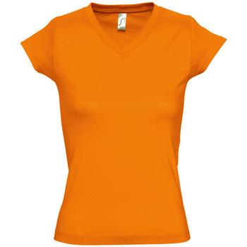 tekstylia Damskie T-shirty z krótkim rękawem Sols MOON COLORS GIRL Naranja