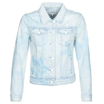 tekstylia Damskie Kurtki jeansowe Desigual WHAII Niebieski