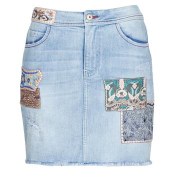 tekstylia Damskie Spódnice Desigual PATTY Niebieski
