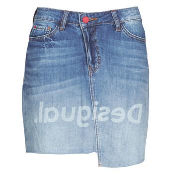 tekstylia Damskie Spódnice Desigual LOG Niebieski