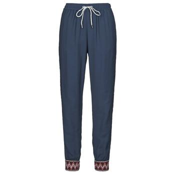 tekstylia Damskie Spodnie z lejącej tkaniny / Alladynki Desigual ISABELLA Marine
