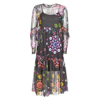 tekstylia Damskie Sukienki długie Desigual PORTLAND Wielokolorowy