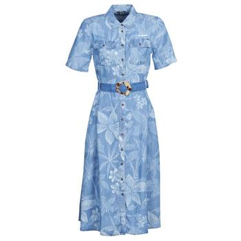 tekstylia Damskie Sukienki długie Desigual KATE Niebieski