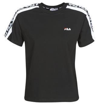 tekstylia Damskie T-shirty z krótkim rękawem Fila TANDY Czarny
