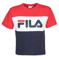 tekstylia Damskie T-shirty z krótkim rękawem Fila ALLISON Marine / Czerwony / Biały