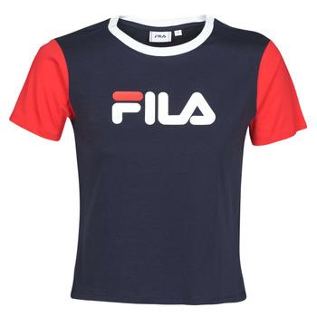 tekstylia Damskie T-shirty z krótkim rękawem Fila SALOME Marine / Czerwony