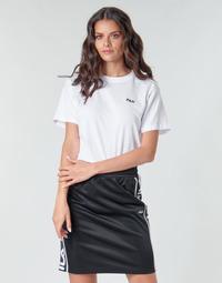 tekstylia Damskie T-shirty z krótkim rękawem Fila EARA Biały