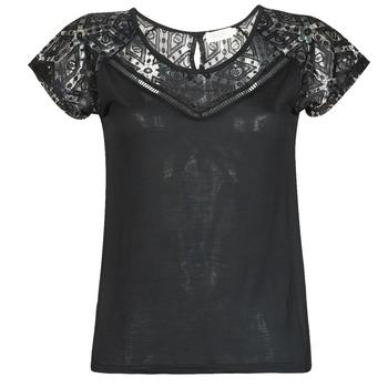 tekstylia Damskie T-shirty z krótkim rękawem Deeluxe CLEA Czarny