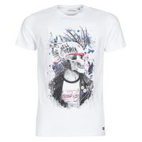 tekstylia Męskie T-shirty z krótkim rękawem Deeluxe ENFIELDON Biały