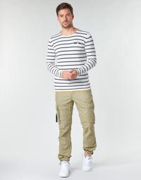 tekstylia Męskie Spodnie bojówki Deeluxe TROPERY Kaki