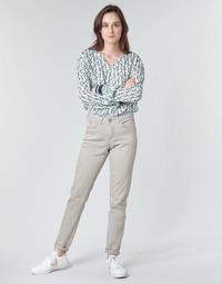 tekstylia Damskie Spodnie z pięcioma kieszeniami Cream ANNIE Szary