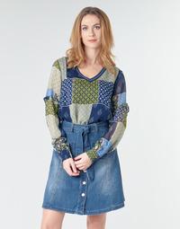 tekstylia Damskie Topy / Bluzki Cream CLODIE Niebieski
