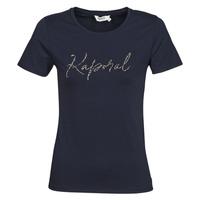 tekstylia Damskie T-shirty z krótkim rękawem Kaporal RAXI Marine