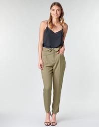 tekstylia Damskie Spodnie z lejącej tkaniny / Alladynki One Step PIRAM Kaki
