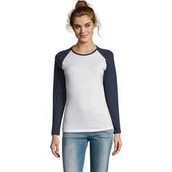 tekstylia Damskie T-shirty z długim rękawem Sols MILKY LSL SPORT Multicolor