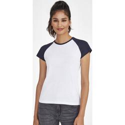 tekstylia Damskie T-shirty z krótkim rękawem Sols MILKY BICOLOR SPORT Multicolor