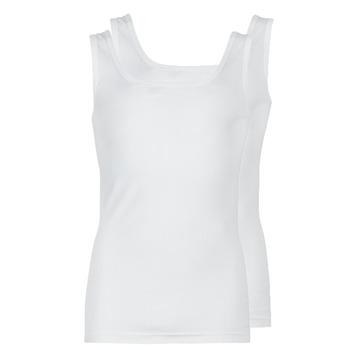 tekstylia Męskie Topy na ramiączkach / T-shirty bez rękawów Athena COTON BIO Biały
