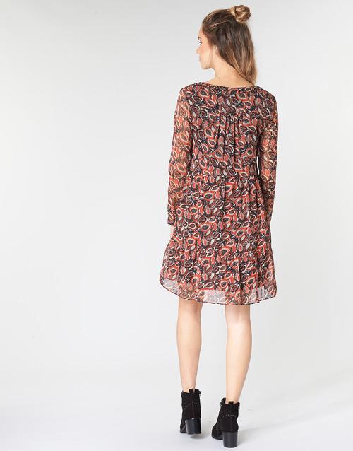 Betty London Leticia Czarny / Czerwony - Bezpłatna Dostawa- Tekstylia Sukienki Krótkie Damskie 17900 Najniższa Cena