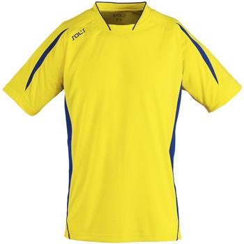 tekstylia Męskie T-shirty z krótkim rękawem Sols MARACANA 2 SSL SPORT Amarillo