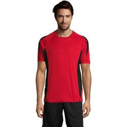 tekstylia Męskie T-shirty z krótkim rękawem Sols MARACANA 2 SSL SPORT Rojo