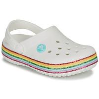 Buty Dziewczynka Chodaki Crocs CROCBAND RAINBOW GLITTER CLG K Biały