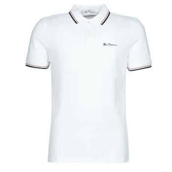 tekstylia Męskie Koszulki polo z krótkim rękawem Ben Sherman SIGNATURE POLO Biały / Czarny