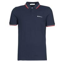 tekstylia Męskie Koszulki polo z krótkim rękawem Ben Sherman SIGNATURE POLO Marine / Czerwony / Biały