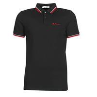 tekstylia Męskie Koszulki polo z krótkim rękawem Ben Sherman SIGNATURE POLO Czarny / Czerwony / Biały