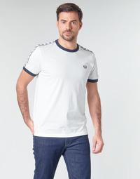 tekstylia Męskie T-shirty z krótkim rękawem Fred Perry TAPED RINGER T-SHIRT Biały