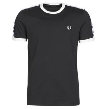 tekstylia Męskie T-shirty z krótkim rękawem Fred Perry TAPED RINGER T-SHIRT Czarny