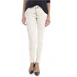 tekstylia Damskie Jeansy slim fit Mih TH BONN WJ1557L.K Beżowy