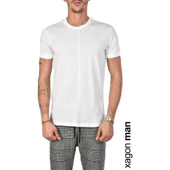 tekstylia Męskie T-shirty z krótkim rękawem Xagon Man  Biały