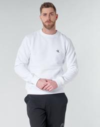 tekstylia Męskie Bluzy Calvin Klein Jeans CK ESSENTIAL REG CN Biały