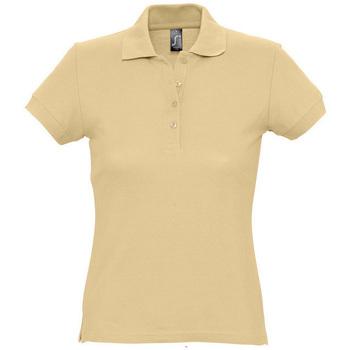 tekstylia Damskie Koszulki polo z krótkim rękawem Sols PASSION WOMEN COLORS Marrón
