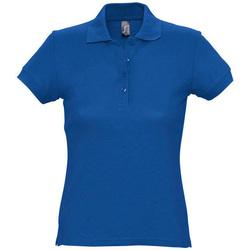 tekstylia Damskie Koszulki polo z krótkim rękawem Sols PASSION WOMEN COLORS Azul