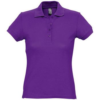 tekstylia Damskie Koszulki polo z krótkim rękawem Sols PASSION WOMEN COLORS Violeta