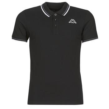 tekstylia Męskie Koszulki polo z krótkim rękawem Kappa ESMO Czarny