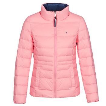 tekstylia Damskie Kurtki pikowane Tommy Jeans MODERN DOWN JKT Różowy