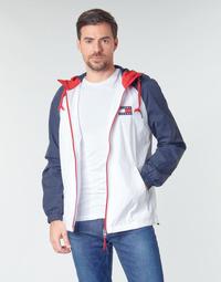 tekstylia Męskie Kurtki krótkie Tommy Jeans TJM COLORBLOCK ZIPTHROUGH JCKT Biały / Niebieski / Czerwony