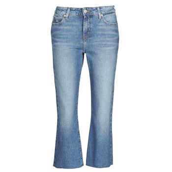 tekstylia Damskie Jeansy straight leg Tommy Jeans KATIE CROP FLARE Niebieski / Medium