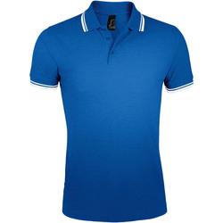 tekstylia Męskie Koszulki polo z krótkim rękawem Sols PASADENA MODERN MEN Azul