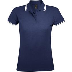 tekstylia Damskie Koszulki polo z krótkim rękawem Sols PASADENA MODERN WOMEN Azul