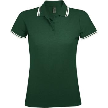 tekstylia Damskie Koszulki polo z krótkim rękawem Sols PASADENA MODERN WOMEN Verde