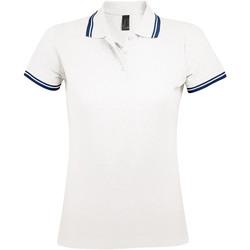tekstylia Damskie Koszulki polo z krótkim rękawem Sols PASADENA MODERN WOMEN Blanco