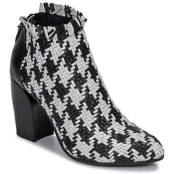 Buty Damskie Low boots Mimmu JESTINE Czarny / Biały