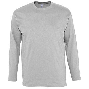 tekstylia Męskie T-shirty z długim rękawem Sols MONARCH COLORS MEN Gris