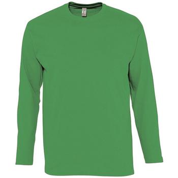 tekstylia Męskie T-shirty z długim rękawem Sols MONARCH COLORS MEN Verde
