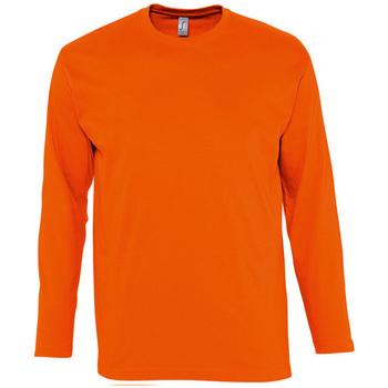 tekstylia Męskie T-shirty z długim rękawem Sols MONARCH COLORS MEN Naranja