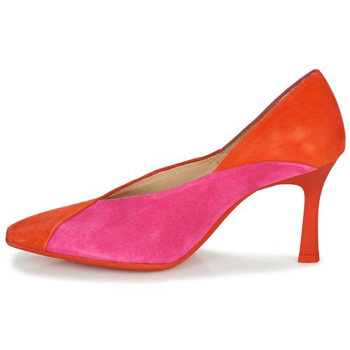 Hispanitas Paris-8 Czerwony / Różowy - Bezpłatna Dostawa- Buty Czółenka Damskie 35630 Najniższa Cena