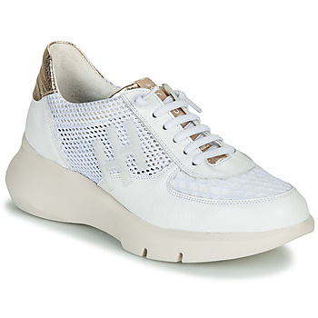 Buty Damskie Trampki niskie Hispanitas CUZCO Biały / Złoty / Różowy